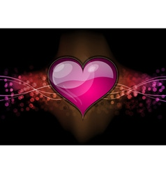 heart on the dark background vector image