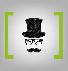 hipster accessories design black scribble vector image