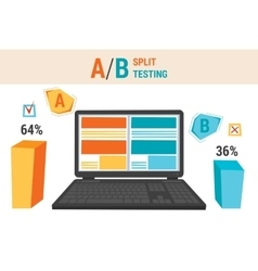 Infographics of A B split testing vector image