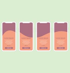 Instagram story layout mockup trendy design vector