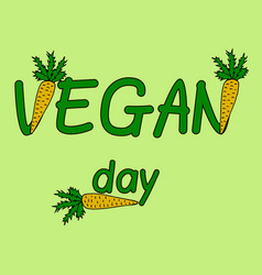 international day of vegetarian nov 1 vegan day vector image