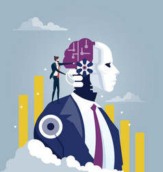 Investor and artificial intelligence concept vector