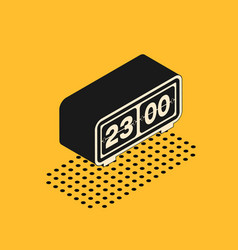 Isometric retro flip clock icon isolated on yellow vector