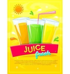 Juice fresh vector image
