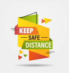 keep safe distance sticker open again after vector image