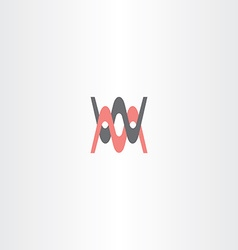 letter m and w icon logo symbol vector image