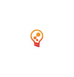 Lightbulb technology idea logo vector