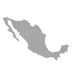 mexico map country abstract silhouette of wavy vector image