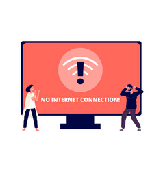 no internet connection wireless connectivity vector image