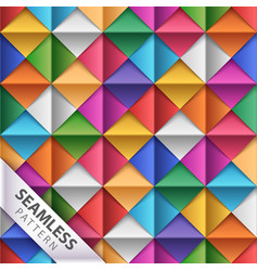 paper square origami seamless pattern vector image