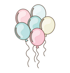 Party bubbles celebration icon vector