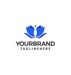 people spa logo design concept template vector image