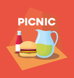 picnic food design vector image