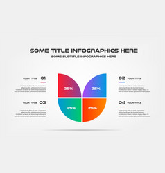 pie chart of percentage infographics element of vector image