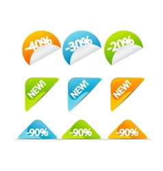 price tags vector image