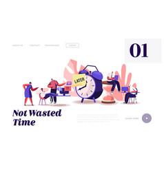 Procrastination at work website landing page vector