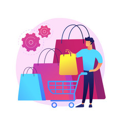 Purchasing habits abstract concept vector