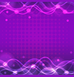 Purple background with bright light vector