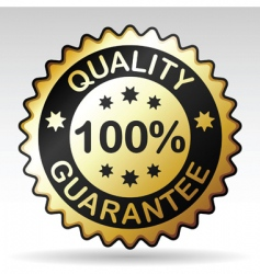 quality guarantee label vector image