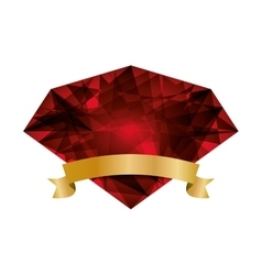 Red diamond icon Gem design graphic vector