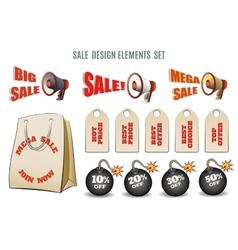 Sales set vector image