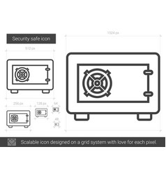 security safe line icon vector image
