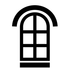 Semicircular window frame icon simple black style vector
