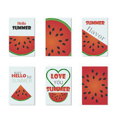 set of bright summer cards vector image