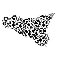 Sicilia map mosaic of soccer balls vector