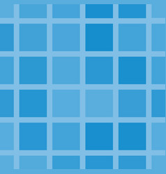 Squares in shades of blue seamless pattern vector
