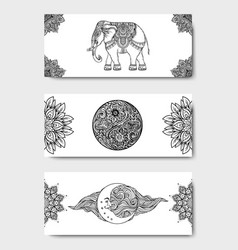 Stretch and strength yoga card design template vector