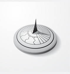 sundial gray object vector image
