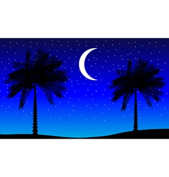 Tropic night vector