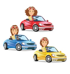 Women Driving Car vector image