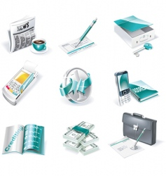 banking icon set vector image vector image