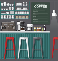 coffee bar modern style vector image vector image
