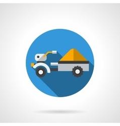 Crop tractor flat color design icon vector image vector image