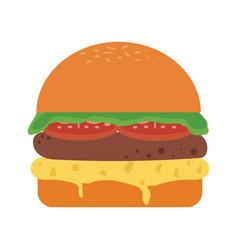 hamburger fast food vector image