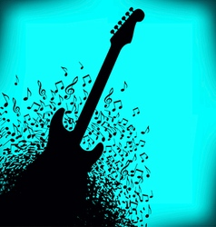 Notes Guitar vector image vector image