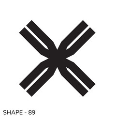 simple geometric shape vector image
