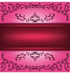 Background with decorative ornament vector image vector image