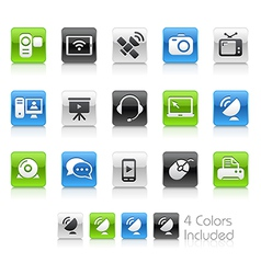 Communication Icons Clean Series vector image