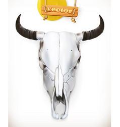Cow skull Western adventure 3d icon vector image