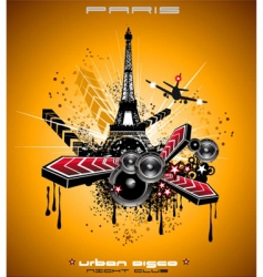 french discotheque vector image vector image