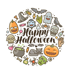 Happy halloween greeting card or banner holiday vector