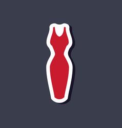 paper sticker fashion clothes dress vector image