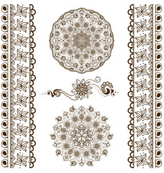 set of hand drawn decorative elements vector image