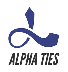 alpha stylized as tie vector image vector image