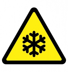 cold sign vector image