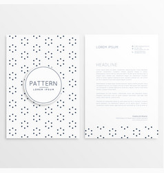 Company leaflet design with pattern decoration vector